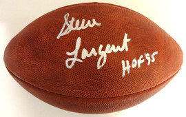 "Steve Largent Autographed Official NFL Leather Football Seattle Seahawks ""HOF 95"" PSA/DNA Stock #77735"