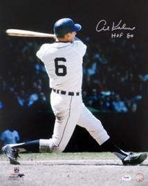 """Al Kaline Autographed 16x20 Photo Detroit Tigers """"HOF 80"""" PSA/DNA Stock #79715"""