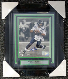 Russell Wilson Autographed Framed 8x10 Photo Seattle Seahawks Super Bowl RW Holo Stock #80872