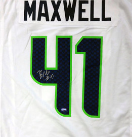 Seattle Seahawks Byron Maxwell Autographed White Nike Jersey Size XL MCS Holo Stock #85551