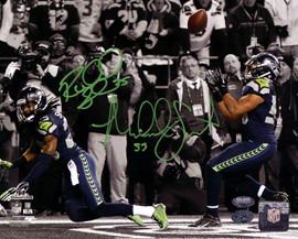 Richard Sherman & Malcolm Smith Autographed 8x10 Photo Seattle Seahawks RS Holo & MCS Holo Stock #85972
