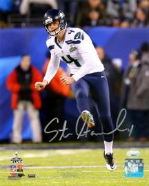 Steven Hauschka Autographed 8x10 Photo Seattle Seahawks Super Bowl MCS Holo Stock #85983
