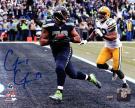 Garry Gilliam Autographed 8x10 Photo Seattle Seahawks MCS Holo Stock #86885