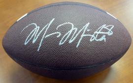 Marcus Mariota Autographed Brown Nike Logo Football Oregon Ducks MM Holo Stock #87158
