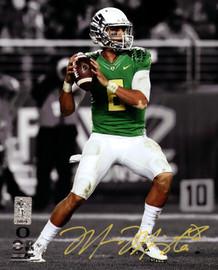 Marcus Mariota Autographed 8x10 Photo Oregon Ducks MM Holo Stock #89176