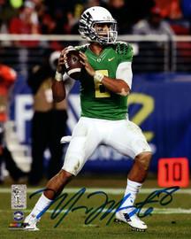 Marcus Mariota Autographed 8x10 Photo Oregon Ducks MM Holo Stock #89177