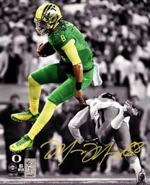 Marcus Mariota Autographed 8x10 Photo Oregon Ducks MM Holo Stock #89178