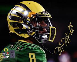 Marcus Mariota Autographed 8x10 Photo Oregon Ducks MM Holo Stock #89180