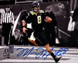 Marcus Mariota Autographed 8x10 Photo Oregon Ducks MM Holo Stock #89181