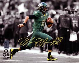 Marcus Mariota Autographed 8x10 Photo Oregon Ducks MM Holo Stock #89183