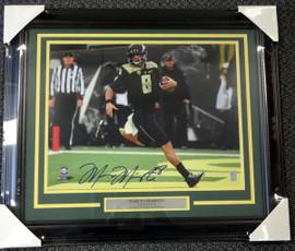 Marcus Mariota Autographed Framed 16x20 Photo Oregon Ducks MM Holo Stock #89816
