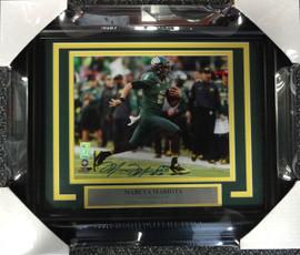 Marcus Mariota Autographed Framed 8x10 Photo Oregon Ducks MM Holo Stock #89817