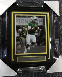 Marcus Mariota Autographed Framed 8x10 Photo Oregon Ducks MM Holo Stock #89823