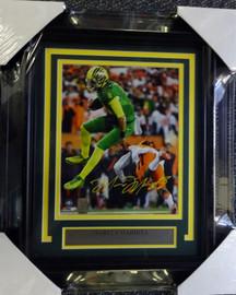Marcus Mariota Autographed Framed 8x10 Photo Oregon Ducks MM Holo Stock #90480
