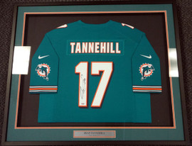 Miami Dolphins Ryan Tannehill Autographed Framed Teal Nike Jersey PSA/DNA Stock #90504