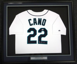 Seattle Mariners Robinson Cano Autographed Framed White Majestic Jersey PSA/DNA ITP Stock #94214