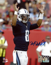 Marcus Mariota Autographed 8x10 Photo Tennessee Titans MM Holo Stock #94937