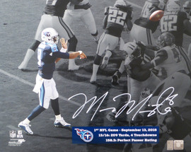 Marcus Mariota Autographed 16x20 Photo Tennessee Titans First Game MM Holo Stock #95007