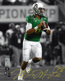 Marcus Mariota Autographed 8x10 Photo Oregon Ducks MM Holo Stock #96550
