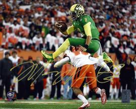 Marcus Mariota Autographed 8x10 Photo Oregon Ducks MM Holo Stock #96552