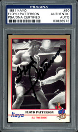 Floyd Patterson Autographed 1991 Kayo Card #50 PSA/DNA Stock #97131