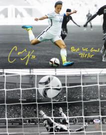 "Carli Lloyd Autographed 16x20 Photo Team USA ""Best WC Goal 7/5/15"" PSA/DNA Stock #98149"