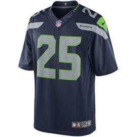 Richard Sherman Unsigned Seattle Seahawks Blue Nike Twill Jersey Size XL Stock #99186