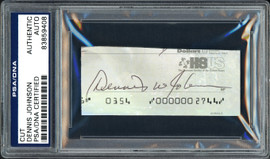 Dennis Johnson Autographed Cut Signature From Check Seattle Sonics PSA/DNA Stock #99215