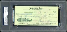 Heinie Manush Autographed Check Detroit Tigers PSA/DNA Stock #99220