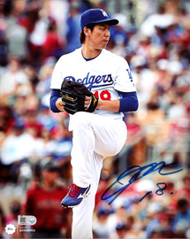 Kenta Maeda Autographed 8x10 Photo Los Angeles Dodgers MLB Holo Stock #104795