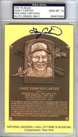 Gary Carter Autographed HOF Postcard Mets, Expos Gem Mint 10 PSA/DNA Stock #106518