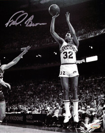 """""""Downtown"""" Fred Brown Autographed 8x10 Photo Seattle Sonics MCS Holo Stock #106817"""