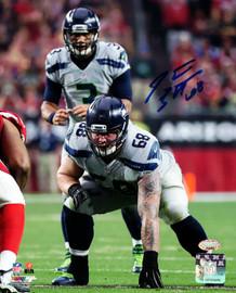 Justin Britt Autographed 8x10 Photo Seattle Seahawks MCS Holo Stock #107526