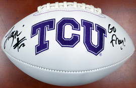 "Trevone Boykin Autographed TCU Horned Frogs Logo Football ""Go Frog!"" MCS Holo Stock #107905"