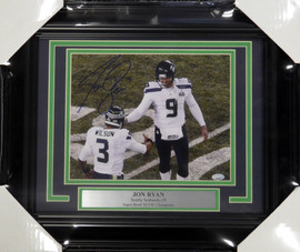 Jon Ryan Autographed Framed 8x10 Photo Seattle Seahawks MCS Holo Stock #108007