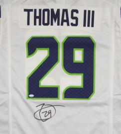 Seattle Seahawks Earl Thomas Autographed White Nike Jersey Size L MCS Holo Stock #110955