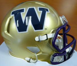 Unsigned Washington Huskies Gold Speed Mini Helmet Stock #110967