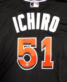 Miami Marlins Ichiro Suzuki Autographed Black Majestic Authentic Flex Base Jersey Size 48 IS Holo Stock #111459