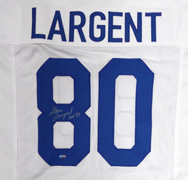 "Seattle Seahawks Steve Largent Autographed White Jersey ""HOF 95"" MCS Holo Stock #112486"