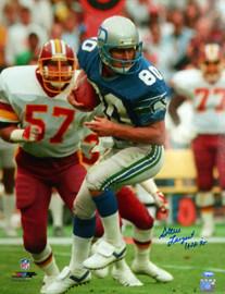 "Steve Largent Autographed 16x20 Photo Seattle Seahawks ""HOF 95"" MCS Holo Stock #112513"