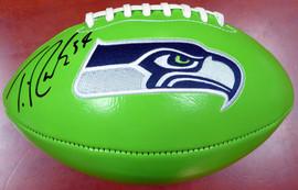 Thomas Rawls Autographed Green Seattle Seahawks Logo Football MCS Holo Stock #112680