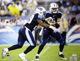 Marcus Mariota & DeMarco Murray Autographed 16x20 Photo Tennessee Titans PSA/DNA Stock #113554
