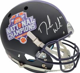 Deshaun Watson Autographed Clemson Tigers Black Schutt National Champs Logo Full Size Helmet Beckett BAS Stock #113711