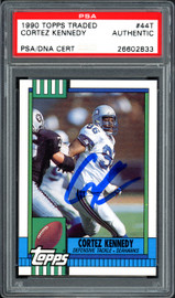 Cortez Kennedy Autographed 1990 Topps Traded Rookie Card #44T Seattle Seahawks PSA/DNA Stock #114593
