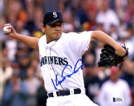 Kazuhiro Sasaki Autographed 8x10 Photo Seattle Mariners Beckett BAS Stock #115980
