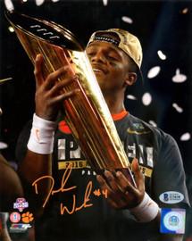 Deshaun Watson Autographed 8x10 Photo Clemson Tigers Beckett BAS Stock #116573