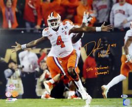 "Deshaun Watson Autographed 16x20 Photo Clemson Tigers ""2016 National Champs!"" Beckett BAS Stock #117275"