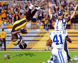 Antonio Brown Autographed 16x20 Photo Pittsburgh Steelers Beckett BAS Stock #121849