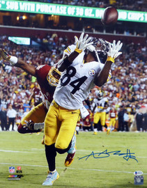 Antonio Brown Autographed 16x20 Photo Pittsburgh Steelers Beckett BAS Stock #121851