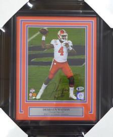 Deshaun Watson Autographed Framed 8x10 Photo Clemson Tigers Beckett BAS Stock #123686